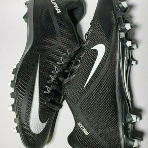 Nike Black White Alpha Pro 2 3/4 TD Football Cleat